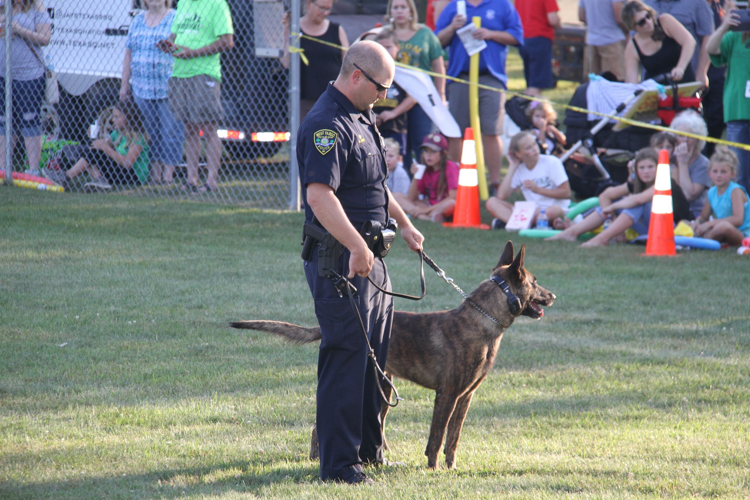 Officer Orr and K9 ToSti demonstrate how they work as a team